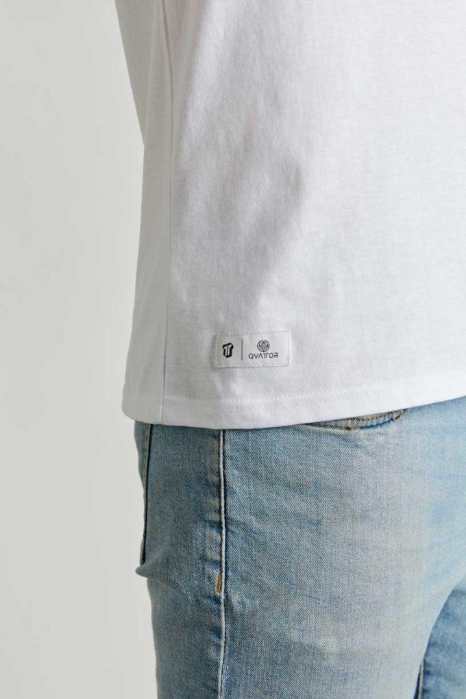 Etiquette T-shirt unisexe Wave blanc