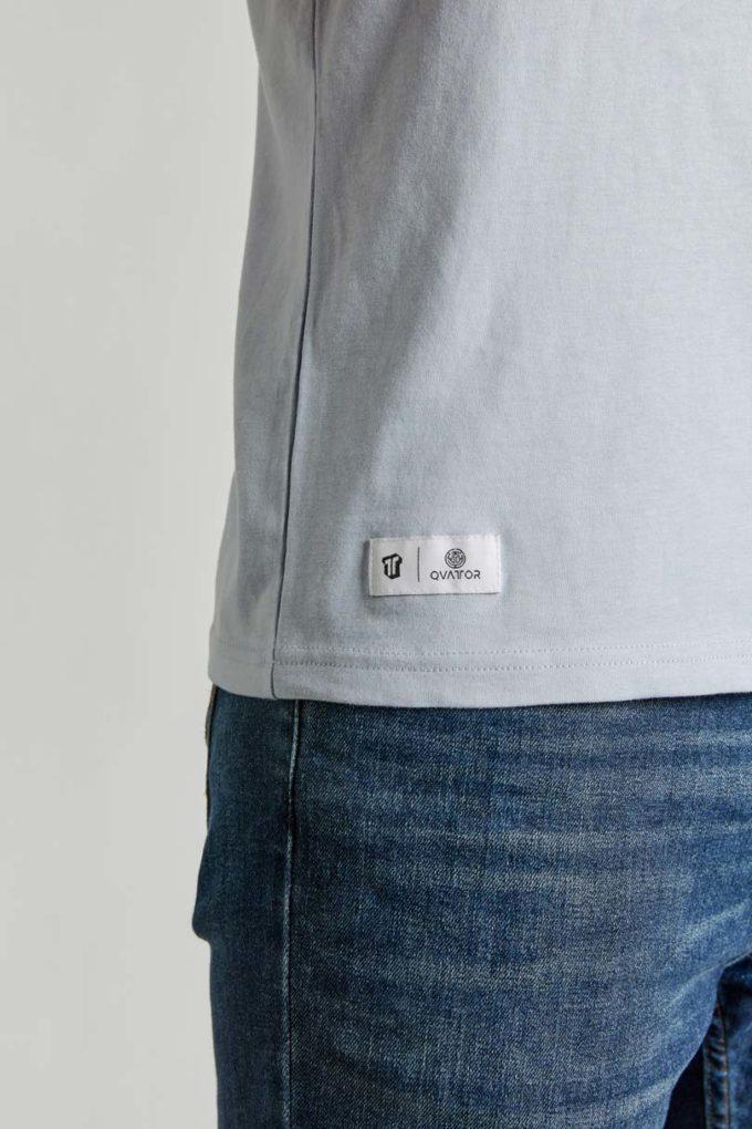 Etiquette T-shirt unisexe Blue Tone