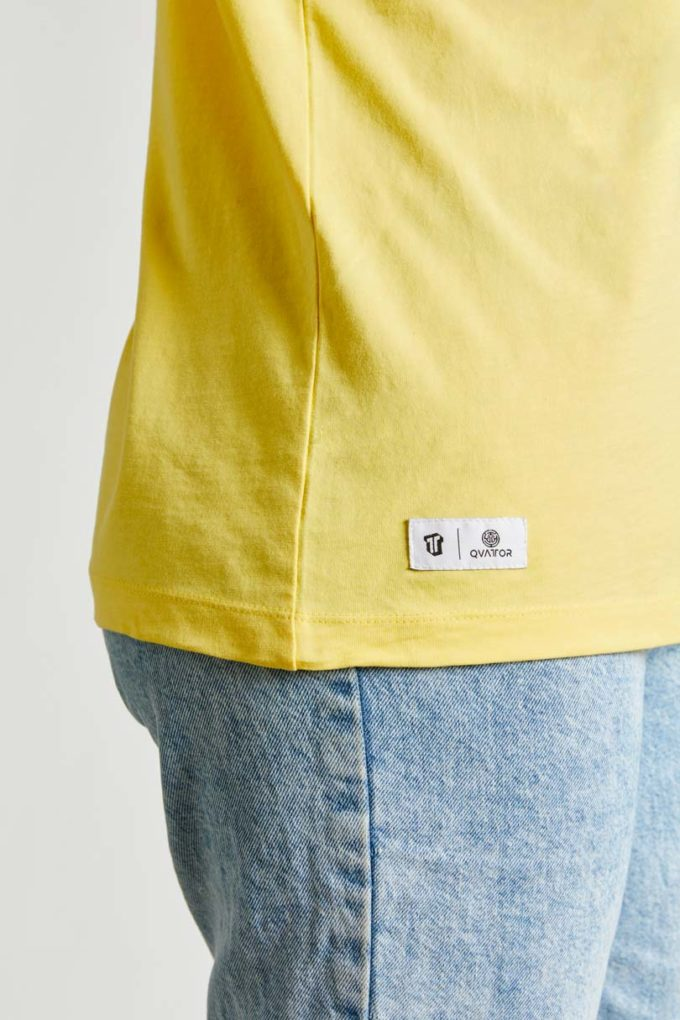 Etiquette T-shirt unisexe Sunflower jaune